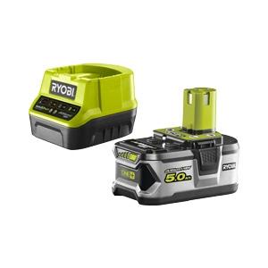 Kit caricabatteria e batteria 18v 5ah